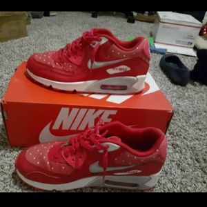 Nike Airmax 90 Red Running Shoes  Size 7